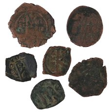 Ancient Coins Roman Artifacts Figural Mixed Lot of 6 B6444