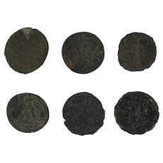 Ancient Coins Roman Artifacts Figural Mixed Lot of 6 B6445
