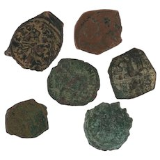 Ancient Coins Roman Artifacts Figural Mixed Lot of 6 B6527