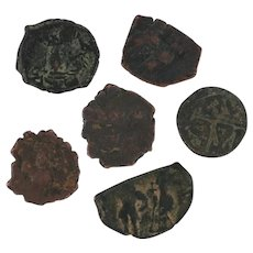 Ancient Coins Roman Artifacts Figural Mixed Lot of 6 B6531