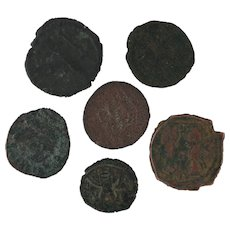 Ancient Coins Roman Artifacts Figural Mixed Lot of 6 B6532