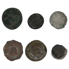Ancient Coins Roman Artifacts Figural Mixed Lot of 6 B6533