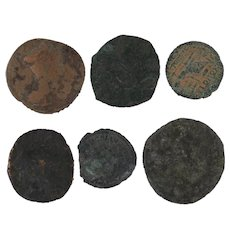 Ancient Coins Roman Artifacts Figural Mixed Lot of 6 B6534