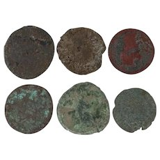 Ancient Coins Roman Artifacts Figural Mixed Lot of 6 B6538