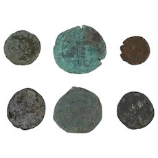 Ancient Coins Roman Artifacts Figural Mixed Lot of 6 B6539