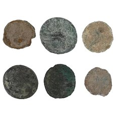 Ancient Coins Roman Artifacts Figural Mixed Lot of 6 B6541