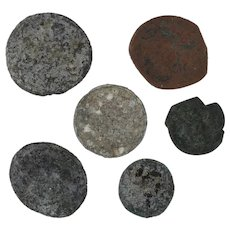 Ancient Coins Roman Artifacts Figural Mixed Lot of 6 B6542
