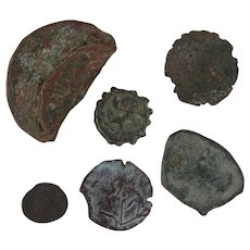 Ancient Coins Roman Artifacts Figural Mixed Lot of 6 B6543