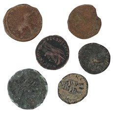 Ancient Coins Roman Artifacts Figural Mixed Lot of 6 B7181