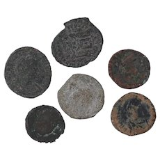 Ancient Coins Roman Artifacts Figural Mixed Lot of 6 B7182
