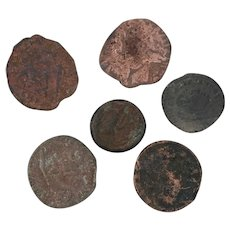 Ancient Coins Roman Artifacts Figural Mixed Lot of 6 B7183
