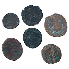 Ancient Coins Roman Artifacts Figural Mixed Lot of 6 B7184