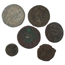 Ancient Coins Roman Artifacts Figural Mixed Lot of 6 B7186