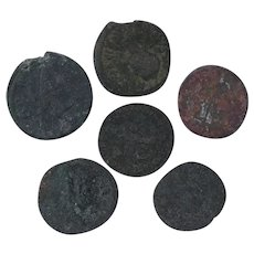 Ancient Coins Roman Artifacts Figural Mixed Lot of 6 B7187