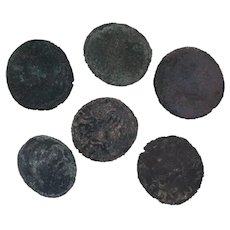 Ancient Coins Roman Artifacts Figural Mixed Lot of 6 B7188