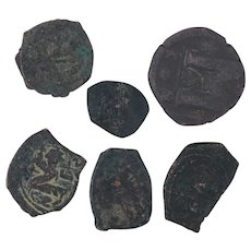 Ancient Coins Roman Artifacts Figural Mixed Lot of 6 B7191