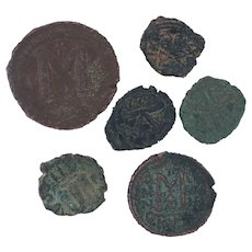 Ancient Coins Roman Artifacts Figural Mixed Lot of 6 B7192