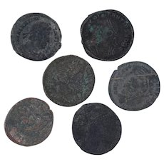 Ancient Coins Roman Artifacts Figural Mixed Lot of 6 B7202
