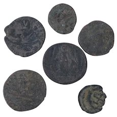 Ancient Coins Roman Artifacts Figural Mixed Lot of 6 B7203