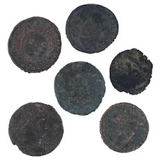 Ancient Coins Roman Artifacts Figural Mixed Lot of 6 B7204