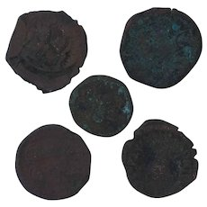 Ancient Coins Roman Artifacts Figural Mixed Lot of 5 B7212