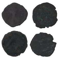 Ancient Coins Roman Artifacts Figural Mixed Lot of 4 B7214
