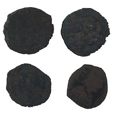 Ancient Coins Roman Artifacts Figural Mixed Lot of 4 B7215