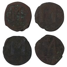 Ancient Coins Roman Artifacts Figural Mixed Lot of 4 B7221