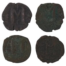 Ancient Coins Roman Artifacts Figural Mixed Lot of 4 B7223
