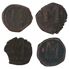 Ancient Coins Roman Artifacts Figural Mixed Lot of 4 B7225