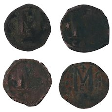 Ancient Coins Roman Artifacts Figural Mixed Lot of 4 B7228