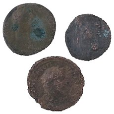 Ancient Coins Roman Artifacts Figural Mixed Lot of 3 B7260