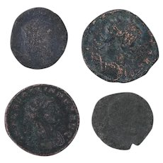 Ancient Coins Roman Artifacts Figural Mixed Lot of 4 B7261