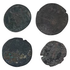 Ancient Coins Roman Artifacts Figural Mixed Lot of 4 B7265