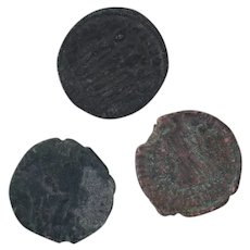 Ancient Coins Roman Artifacts Figural Mixed Lot of 3 B7266