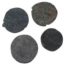Ancient Coins Roman Artifacts Figural Mixed Lot of 4 B7267