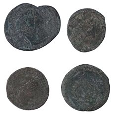 Ancient Coins Roman Artifacts Figural Mixed Lot of 4 B7268