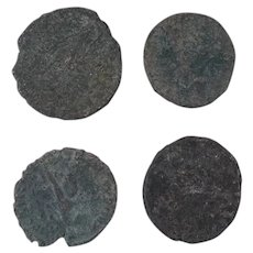 Ancient Coins Roman Artifacts Figural Mixed Lot of 4 B7269