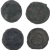Ancient Coins Roman Artifacts Figural Mixed Lot of 4 B7272