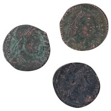 Ancient Coins Roman Artifacts Figural Mixed Lot of 3 B7274