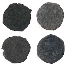 Ancient Coins Roman Artifacts Figural Mixed Lot of 4 B7278