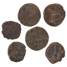 Ancient Coins Roman Artifacts Figural Mixed Lot of 6 B7297