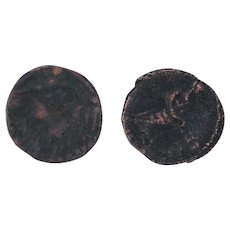 Ancient Coins Roman Artifacts Figural Mixed Lot of 2 B7299