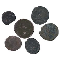 Ancient Coins Roman Artifacts Figural Mixed Lot of 6 B7307