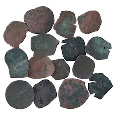 Ancient Coins Roman Artifacts Figural Mixed Lot of 15 B7313