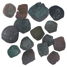 Ancient Coins Roman Artifacts Figural Mixed Lot of 14 B7314