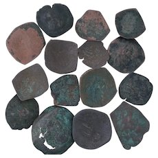 Ancient Coins Roman Artifacts Figural Mixed Lot of 15 B7317