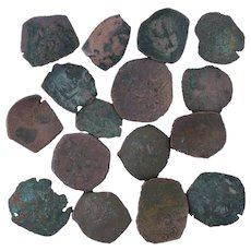 Ancient Coins Roman Artifacts Figural Mixed Lot of 16 B7319