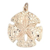 Sand Dollar Charm 14k Yellow Gold Nautical Pendant Beach Souvenir