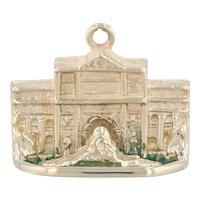Trevi Fountain Charm 14k Gold Rome Italy Souvenir Pendant 3D Detailing
